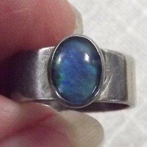 Tested Sterling and Opal 925 Silver Ring Size 5